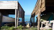 Tres barcas en Es Valencians, playa de Es Migjorn en Formentera