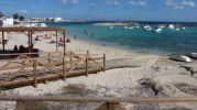 Plataformas de madera que llegan hasta la orilla