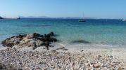 Gradación de azules con vistas a la isla de Ibiza