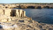 Zona antigua cantera de marés del Racó d'es Moro en Formentera