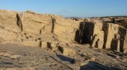 Silueta del corte de las máquinas del marés en racó d'es moro Formentera