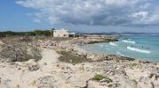 Vista de la playa de Sa Roqueta desde el sureste