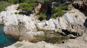 Piscinas naturales en la Cova d'es Vellmarí