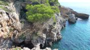 Zona de rocas desde donde se hacen saltos al mar