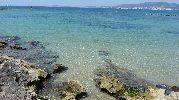 zona rocosa de la playa