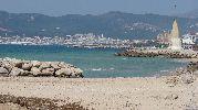 vista lejana del puerto de Palma
