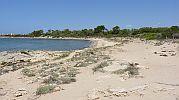 enorme playa vista desde lejos