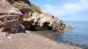 Zona de cascada en playa s'hort de sa cova