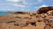 Rocas rojas de Caló d'en Trull