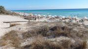 Diferentes azules de la playa Els Arenals