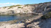 Zona costera Es Ram con acantilado al fondo