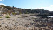 Lateral de la playa de Es Ram en Formentera