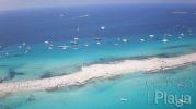 Imagen aérea de la playa Es Pas de n'Adolf