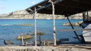 Zona de baño en Es Pou d'es verro con vistas a los acantilados de La Mola