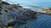 Imagen general de las casetas varadero de Punta de s'Anfossol