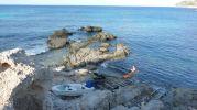 Bañista en Punta de s'Anfossol