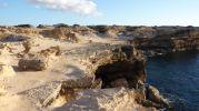 Zona con arena en Racó d'es Moro en Formentera
