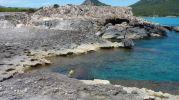 piedras erosionadas por las olas