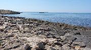 zona de la playa con muchas rocas