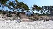 zona más rocosa de la playa