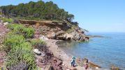 Vista panorámica de la playa s'Hort de sa Cova